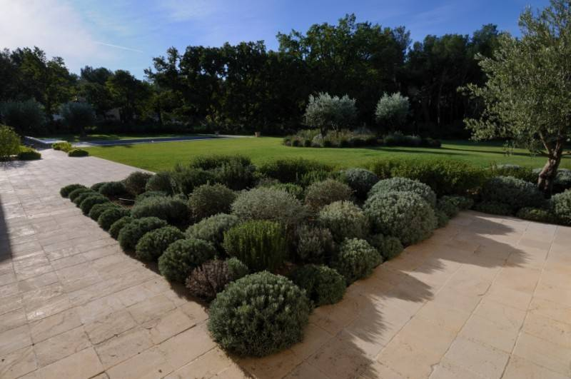 Cr ation d 39 un jardin proven al saint cannat 13 for Creation massif jardin